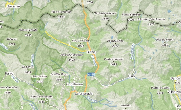 Mapa Park Narodowy Ordesa I Monte Perdido, Aragonia, Hiszpania, Piereneje, #slowandactive, #slowandactivepl, #aniakopera