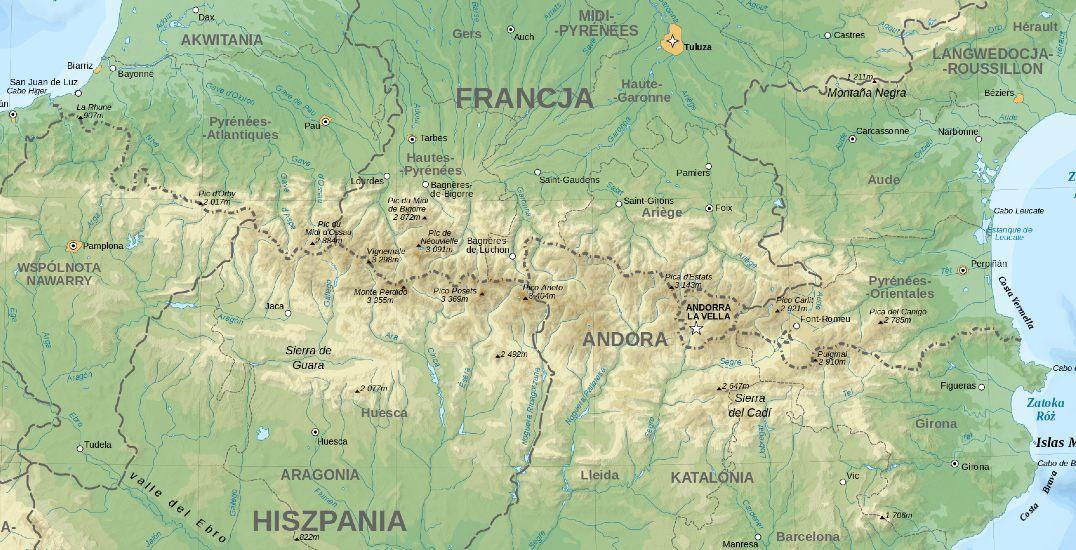 Pireneje - od Zatoki Biskajskiej do Morza Śródziemnego